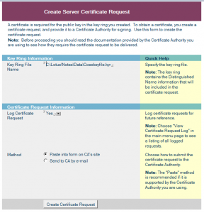 Create Certificate Request2
