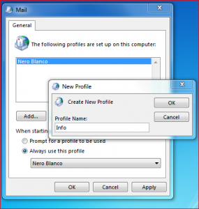 Add Outlook Profiles