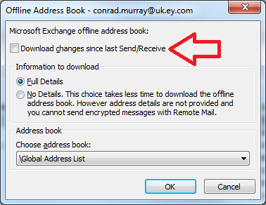 Microsoft Outlook Cannot Your Offline Address Book Exchange 2010