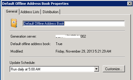 Exchange Global Address List and the Outlook Offline Address Book