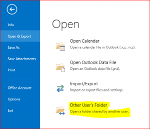 Open Other Users Folder
