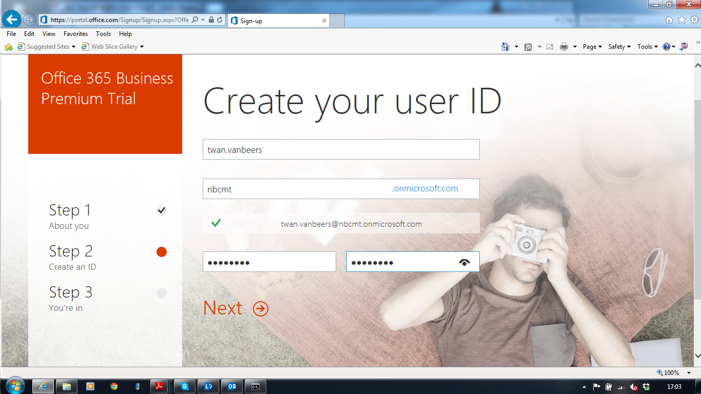 Setting up a new office 365 tenant nero blanco end to - Create account in office 365 ...