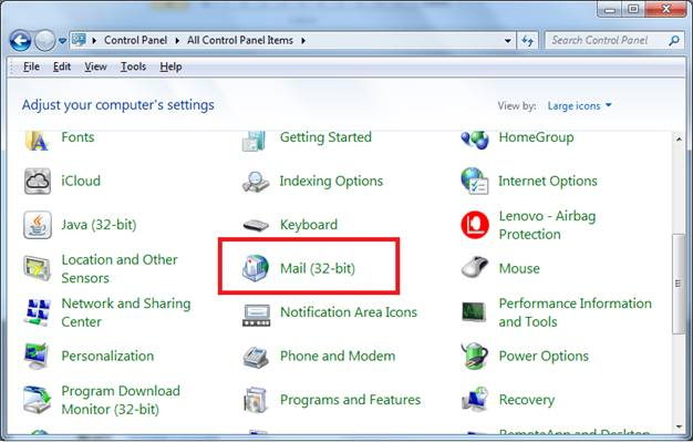 how to delete profile from outlook