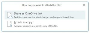 Outlook attachment type