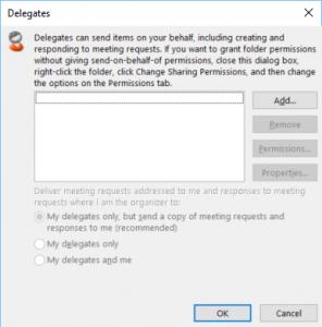 Outlook Delegation Wizard