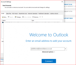 Add New Outlook Account